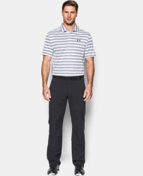New to Outlet Men's UA Leaderboard Stripe Polo LIMITED TIME OFFER + FREE U.S. SHIPPING  $37.49