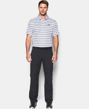 Men's UA Leaderboard Stripe Polo LIMITED TIME OFFER + FREE U.S. SHIPPING  $44.99