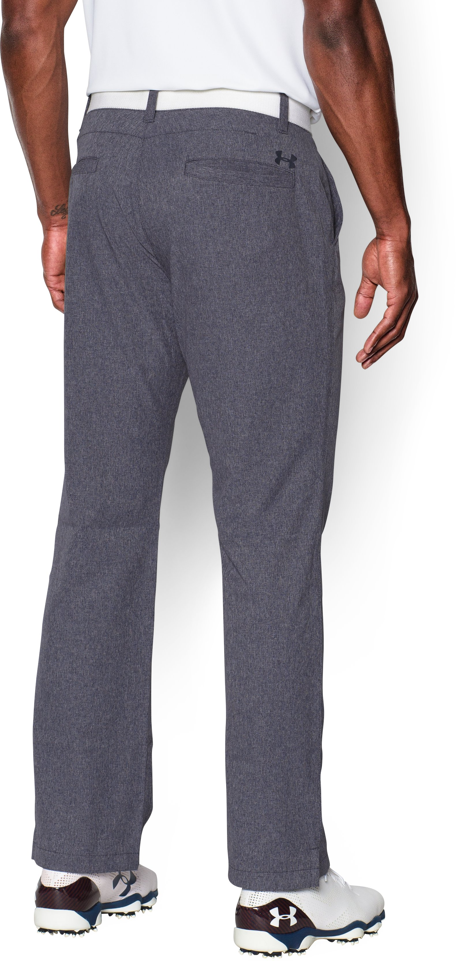 Men's UA Match Play Vented Pants, STEALTH GRAY,