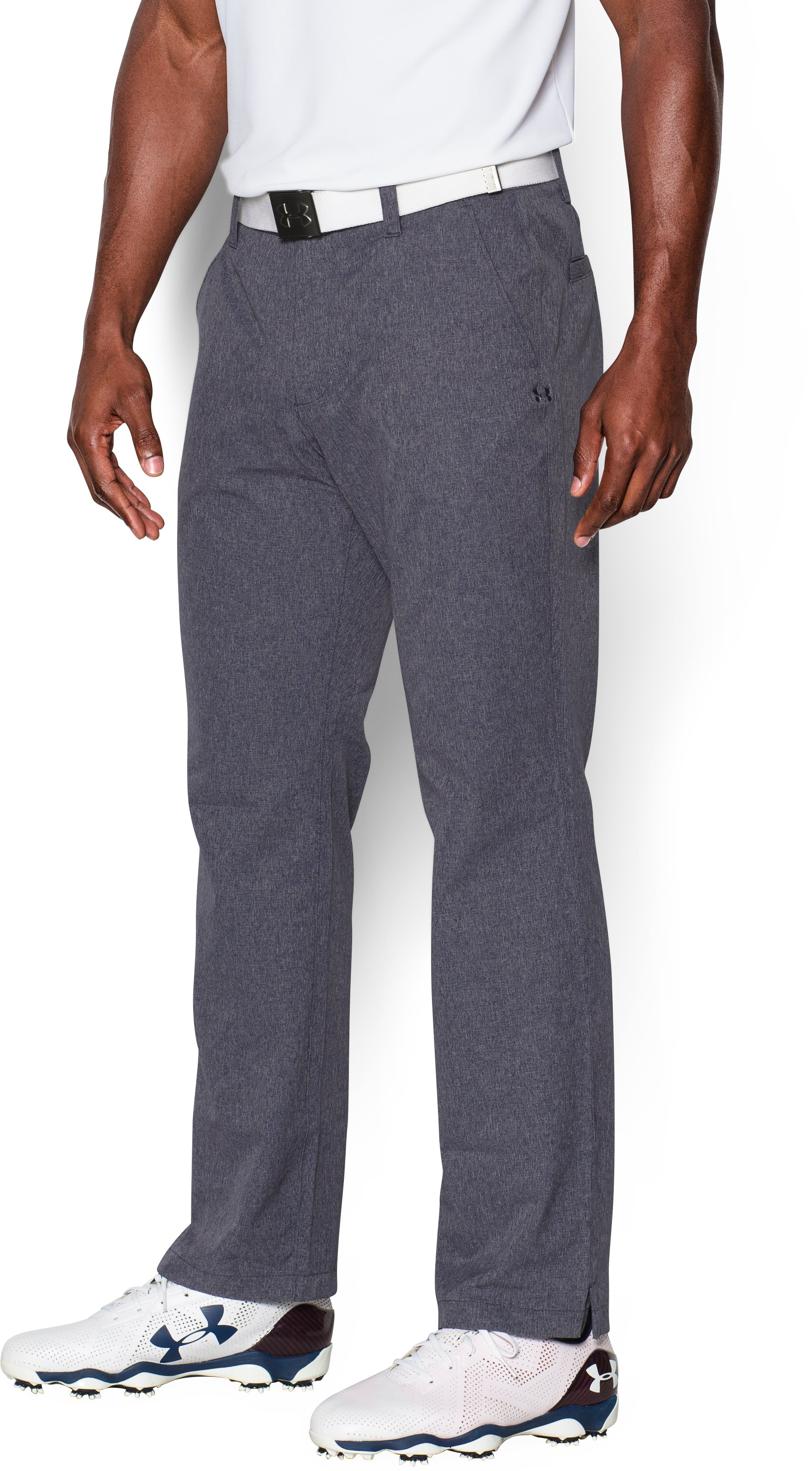 Men's UA Match Play Vented Pants, STEALTH GRAY, undefined