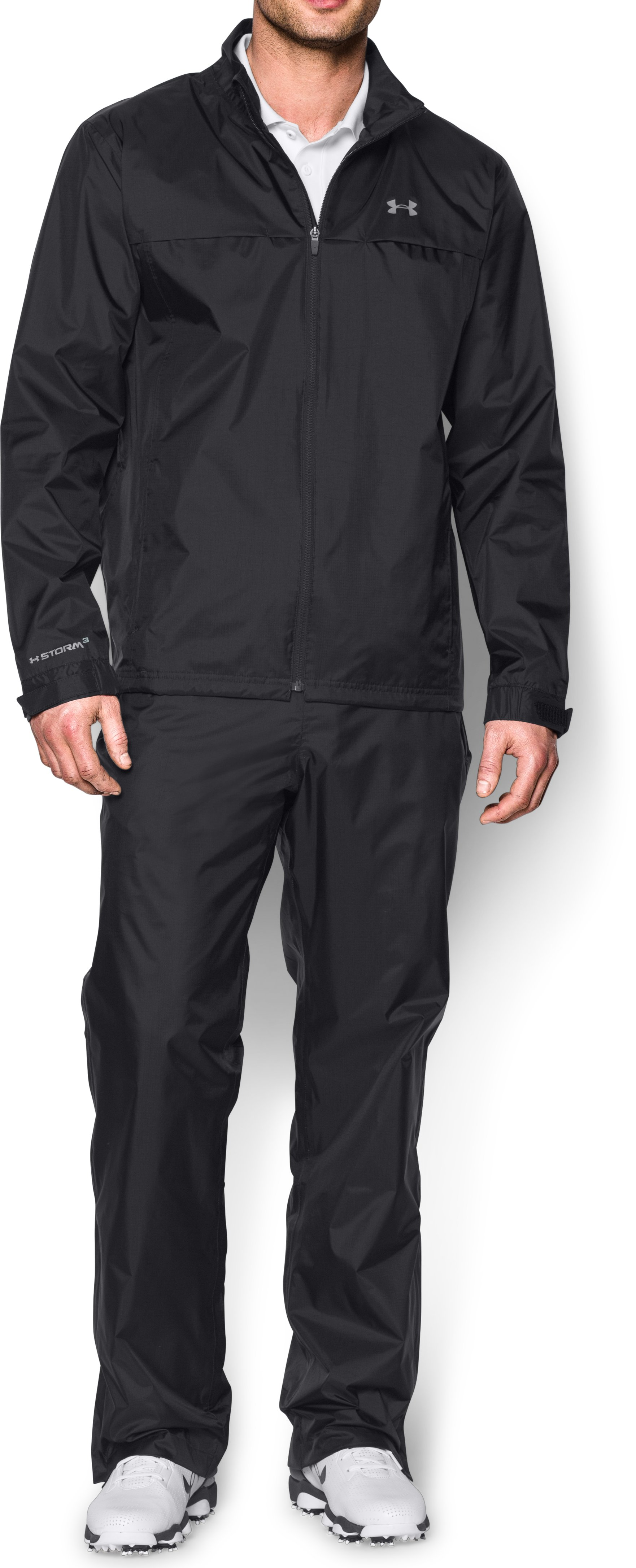 Men's UA Storm Golf Rain Suit, Black , zoomed image