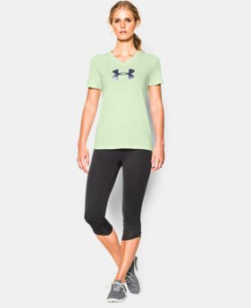 Women's UA Charged Cotton® Tri-Blend Logo V-Neck  1 Color $18.99