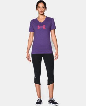 Women's UA Charged Cotton® Tri-Blend Logo V-Neck   $24.99