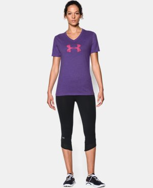 Women's UA Charged Cotton® Tri-Blend Logo V-Neck  1 Color $24.99
