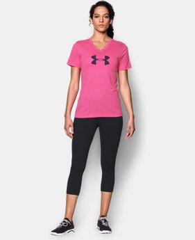 Women's UA Charged Cotton® Tri-Blend Logo V-Neck
