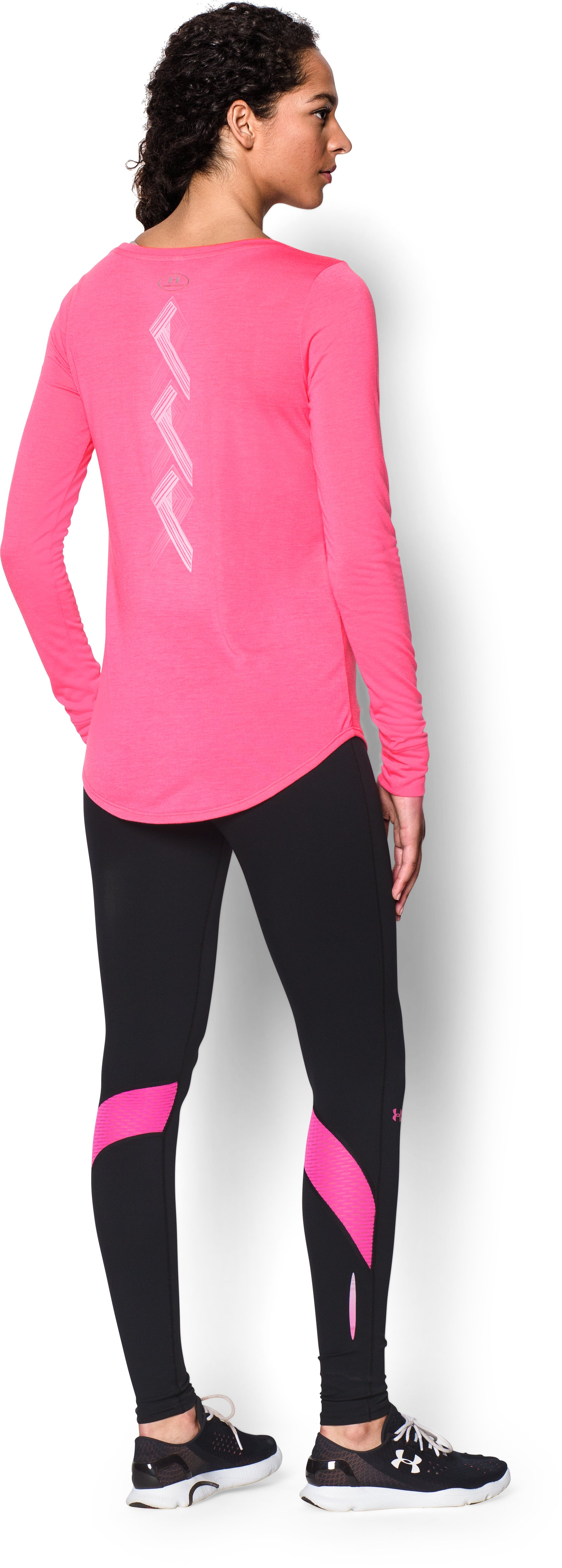 Women's UA Power In Pink® Long Sleeve, Cerise, Back