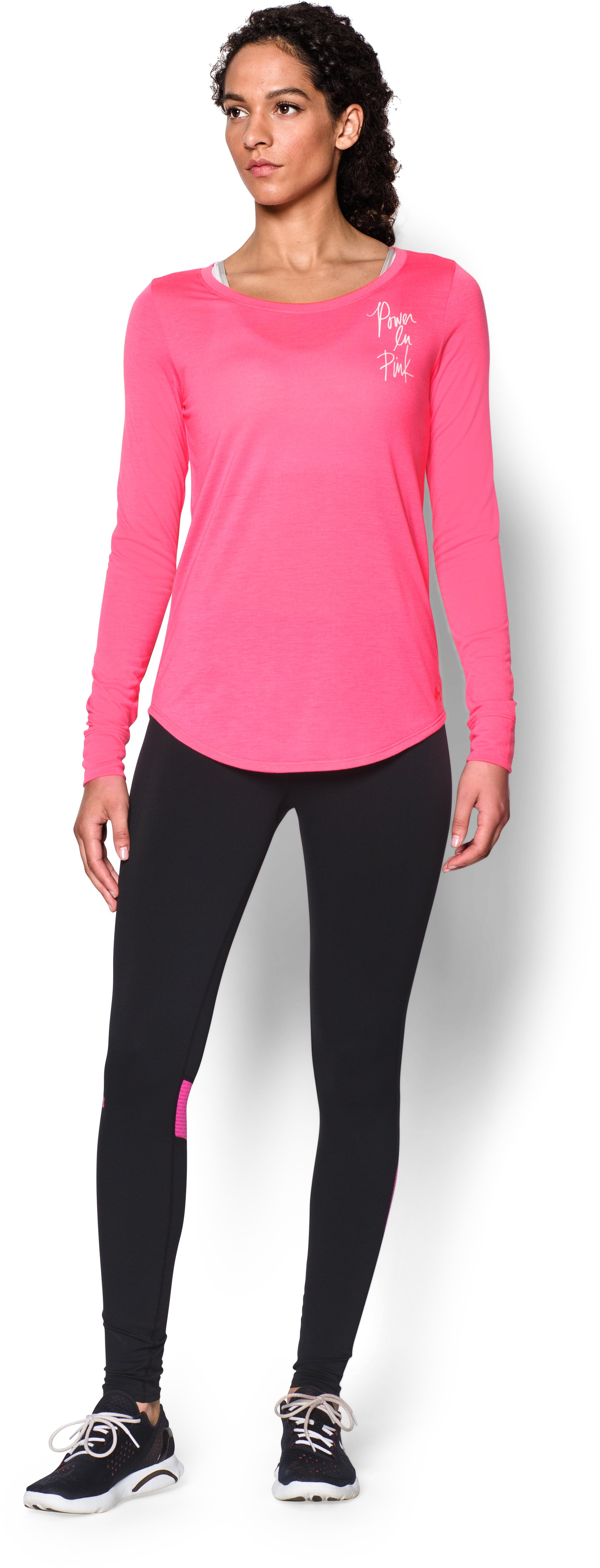 Women's UA Power In Pink® Long Sleeve, Cerise, zoomed image