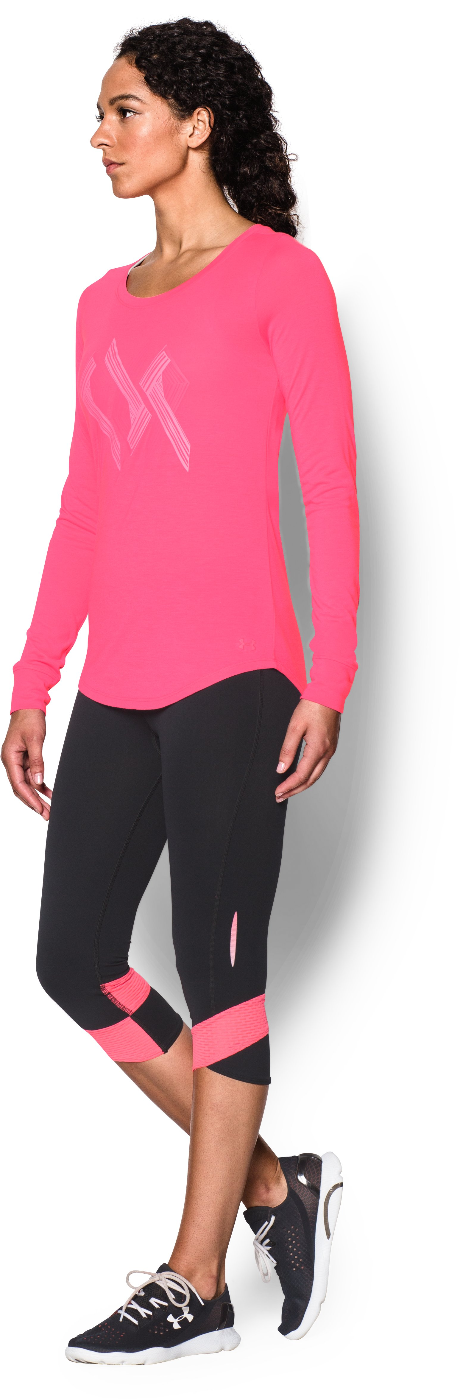 Women's UA Power In Pink® Triple Ribbon Long Sleeve, Cerise, undefined