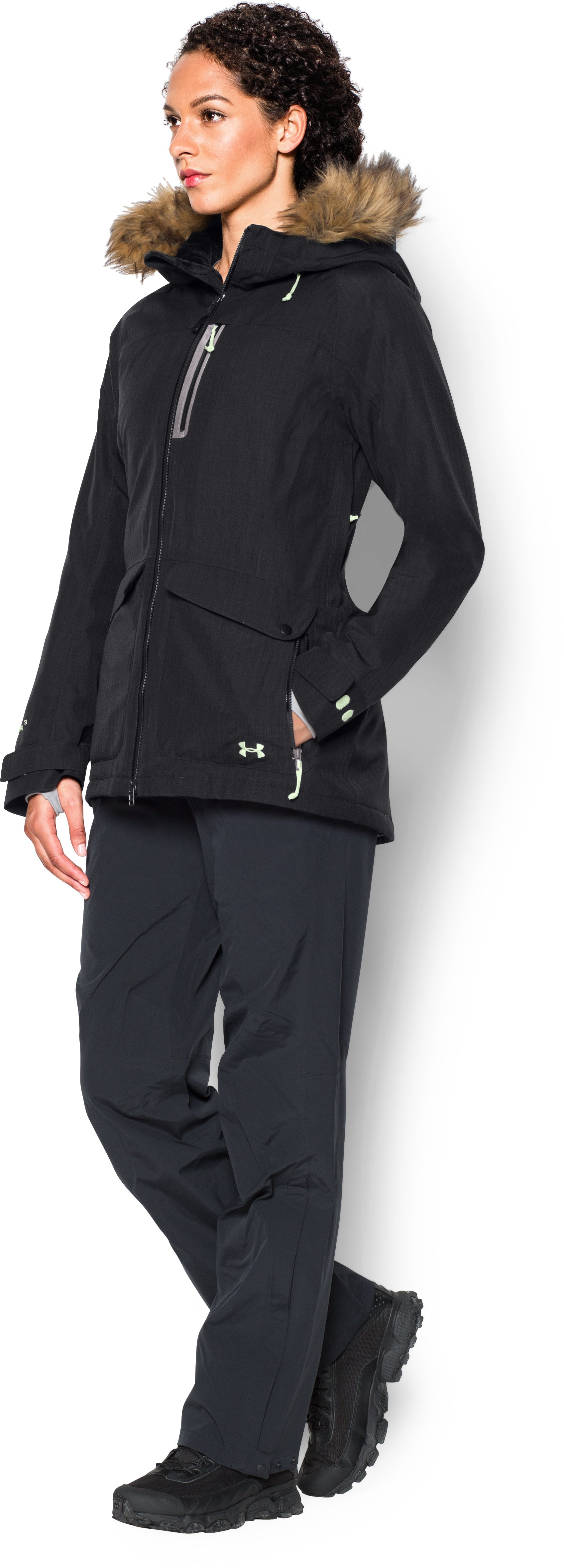 Women's UA ColdGear® Infrared Vailer Jacket, Black