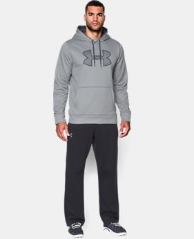 Men's UA Storm Armour® Fleece Big Logo Hoodie EXTENDED SIZES 7 Colors $41.99