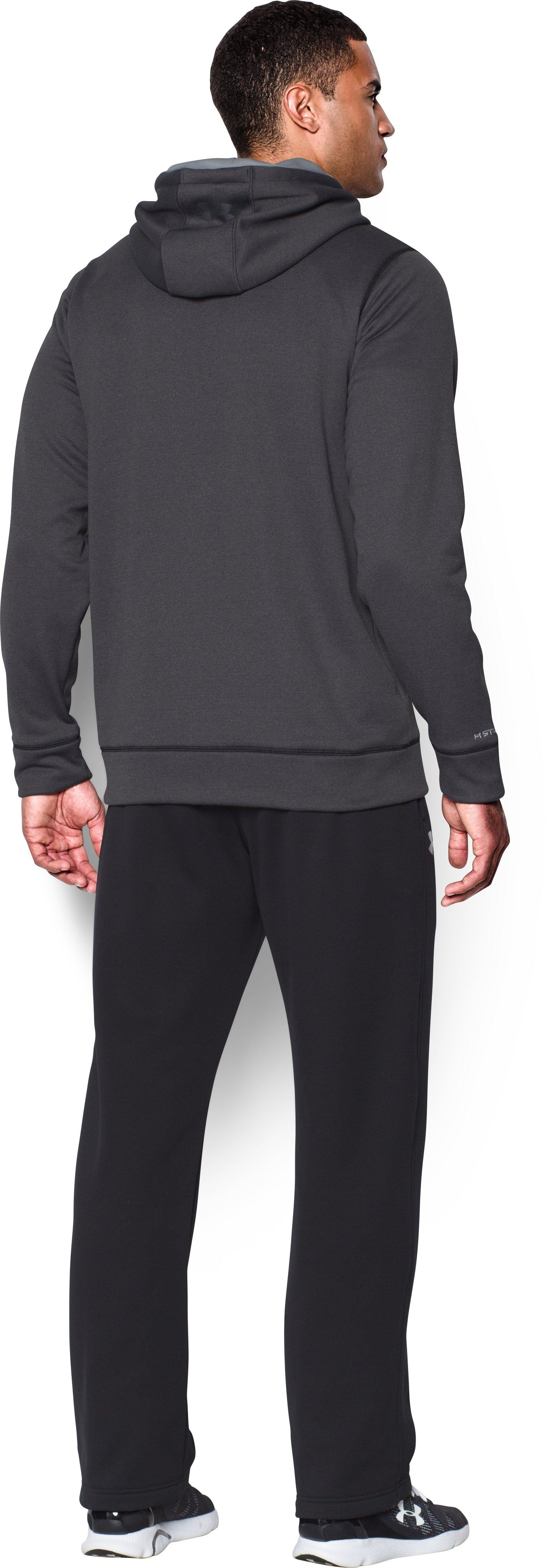 Men's UA Storm Armour® Fleece Big Logo Hoodie, Carbon Heather, Back