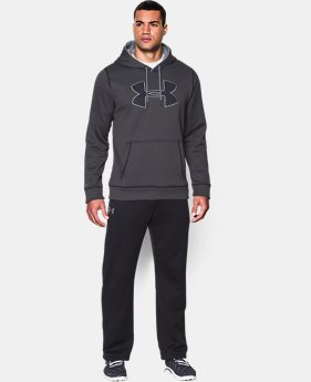 Men's UA Storm Armour® Fleece Big Logo Hoodie EXTENDED SIZES  $41.99