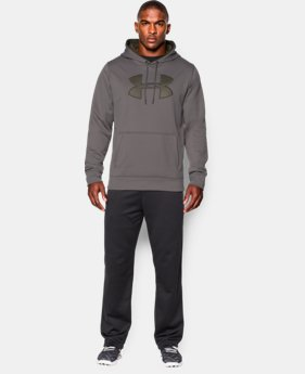 Men's UA Storm Armour® Fleece Big Logo Hoodie LIMITED TIME OFFER + FREE U.S. SHIPPING 1 Color $31.49 to $38.99