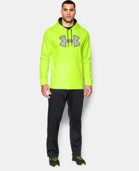 Men's UA Storm Armour® Fleece Big Logo Hoodie EXTENDED SIZES 2 Colors $41.99