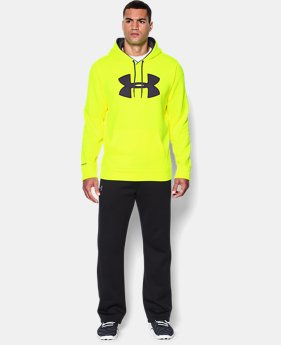Men's UA Storm Armour® Fleece Big Logo Hoodie EXTENDED SIZES 3 Colors $41.99