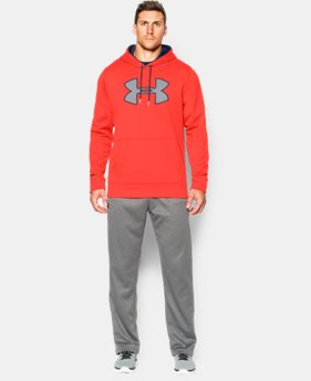 Men's UA Storm Armour® Fleece Big Logo Hoodie EXTENDED SIZES 1 Color $41.99
