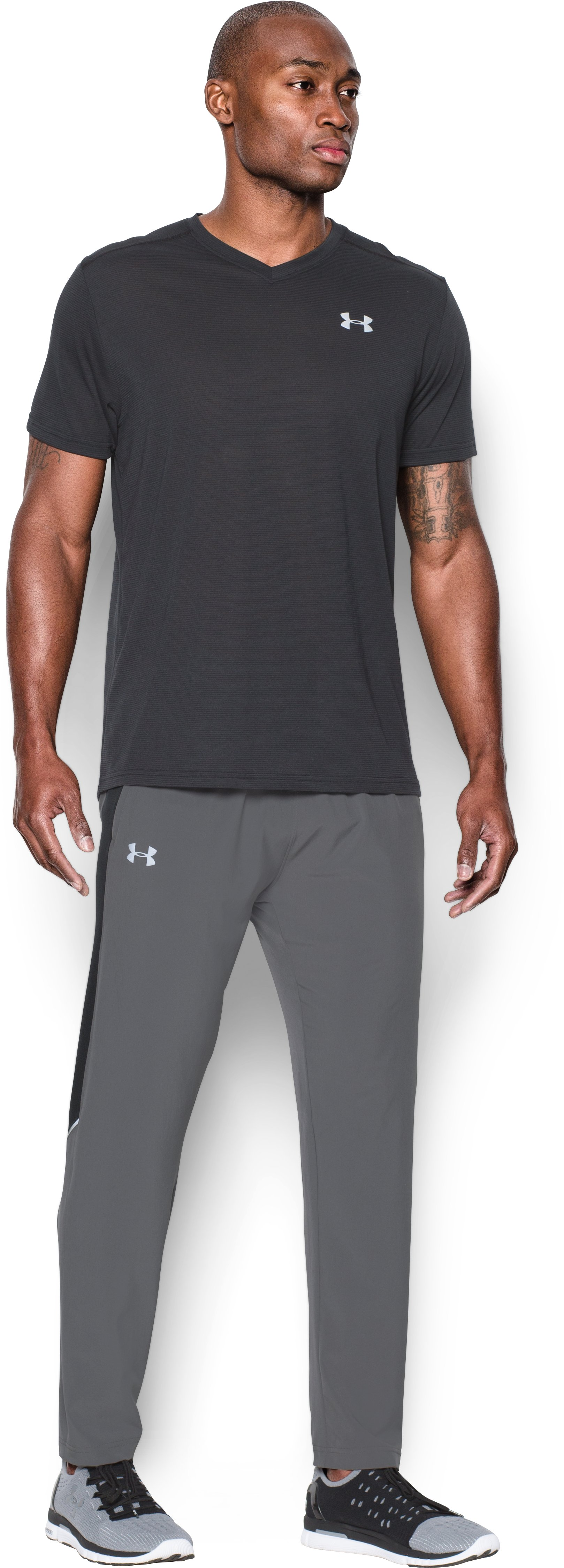 Men's UA Launch Run Stretch-Woven Pants, Graphite, zoomed image