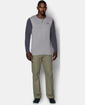 Men's UA ColdGear® Infrared Lightweight Henley  4 Colors $44.99