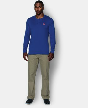Men's UA ColdGear® Infrared Lightweight Henley  1 Color $44.99
