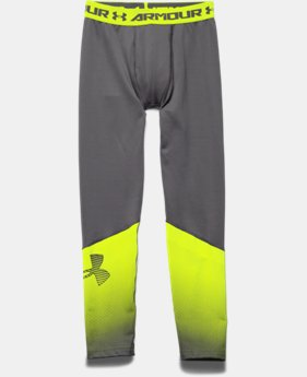 Boys' UA ColdGear® Armour Big Logo Fitted Leggings