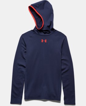 Boys' UA ColdGear® Armour Printed Fitted Ninja Hoodie