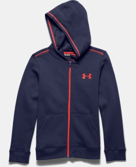 Boys' UA Rival Fleece Full Zip Hoodie