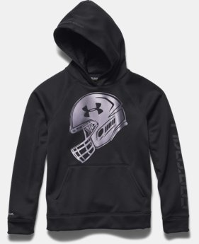 Boys' UA Storm Armour® Fleece Football Logo Hoodie