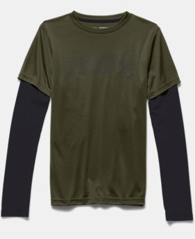 Boys' UA Reflective 2-in-1 T-Shirt