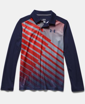 Boys' UA Path Long Sleeve Polo