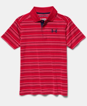 Boys' UA Tempo Striped Polo