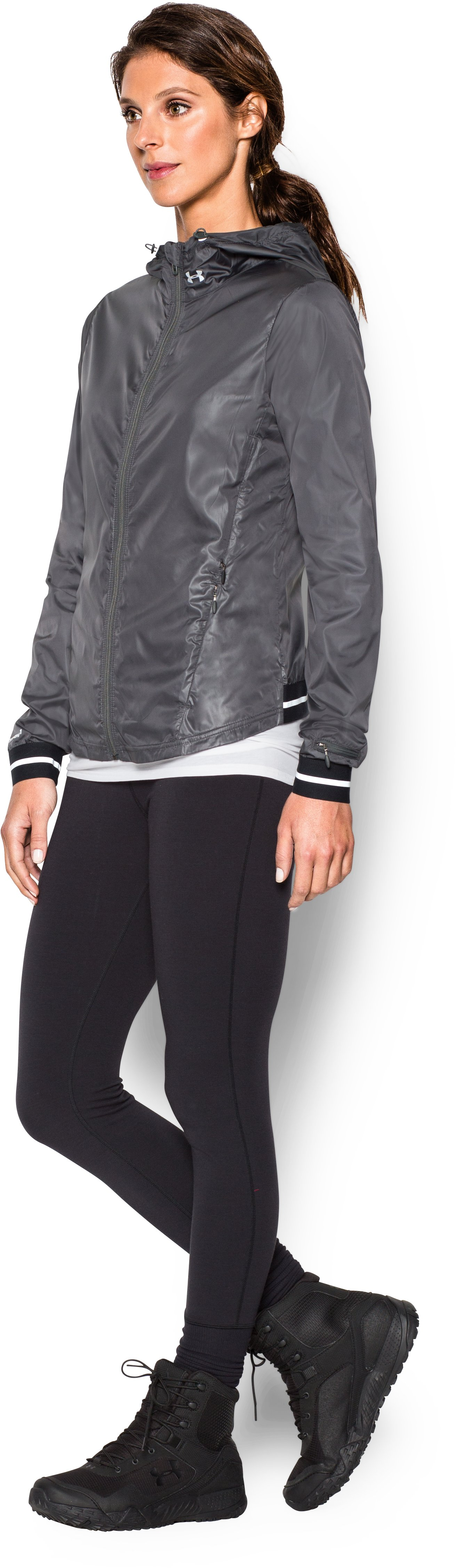 Women's UA Storm Layered Up Jacket, PHANTOM GRAY