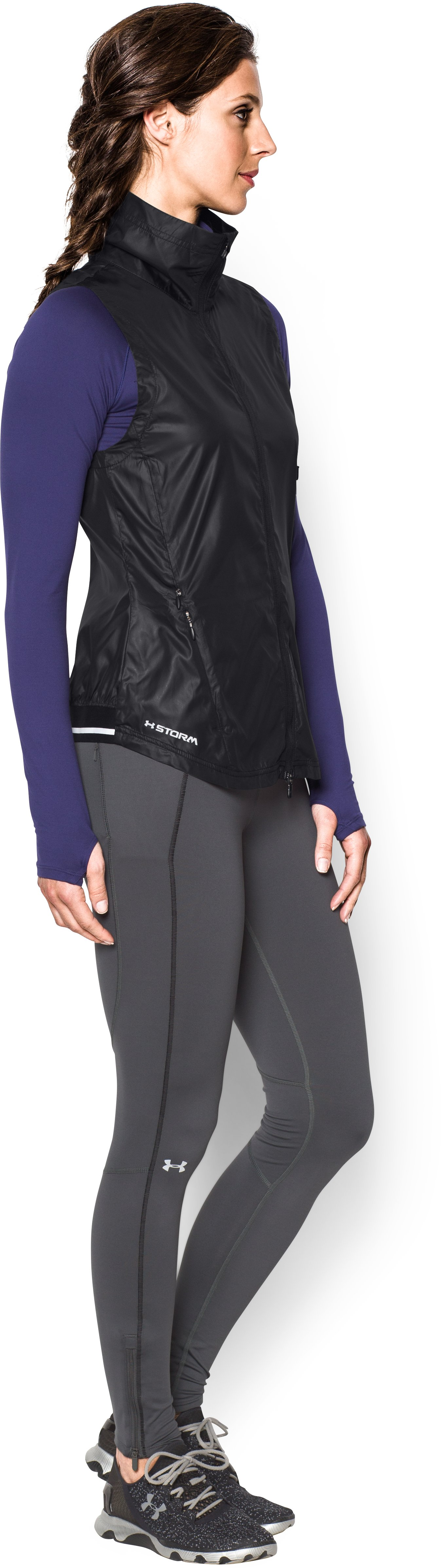 Women's UA Storm Layered Up Vest, Black , undefined