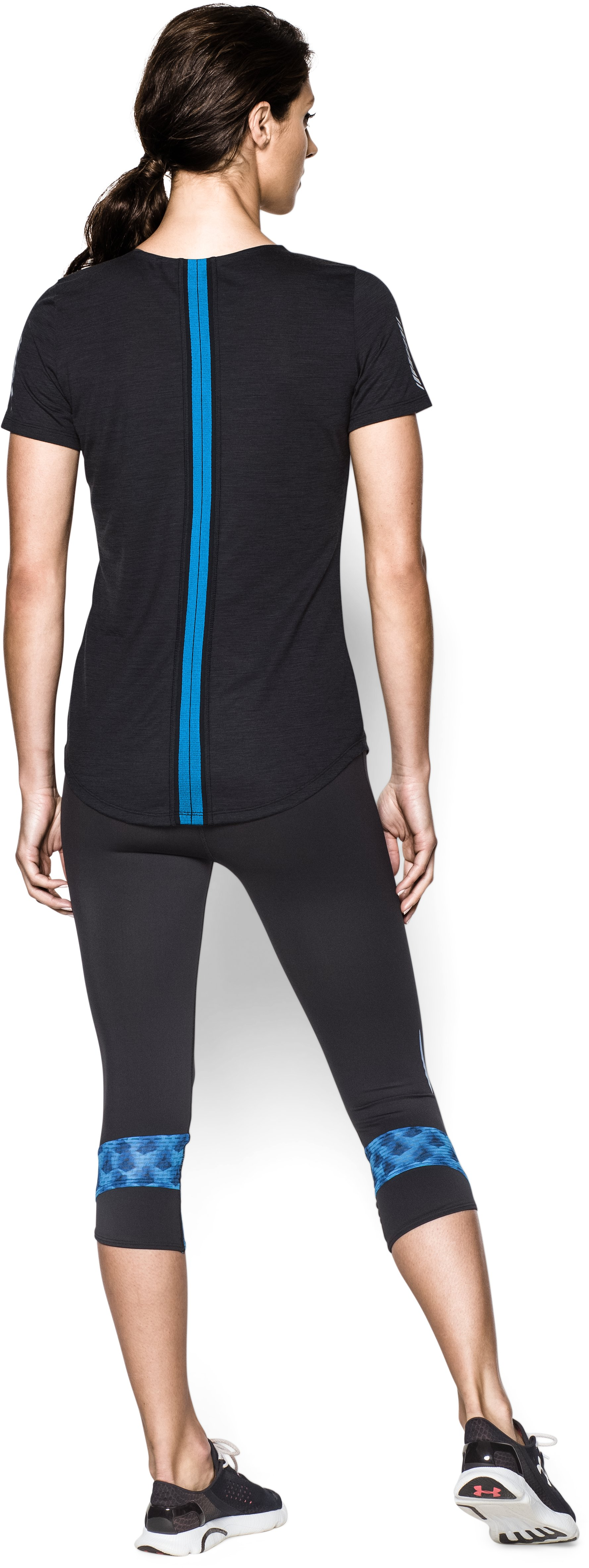 Women's UA Charged Wool Short Sleeve, Black