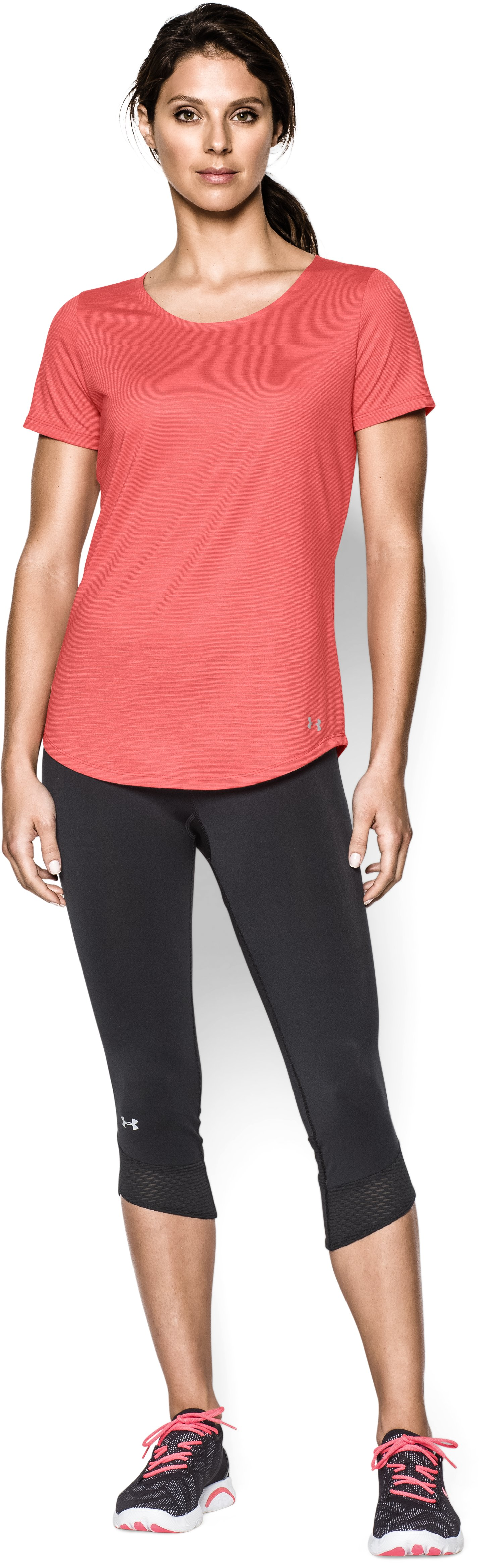 Women's UA Charged Wool Short Sleeve, Coho, Front