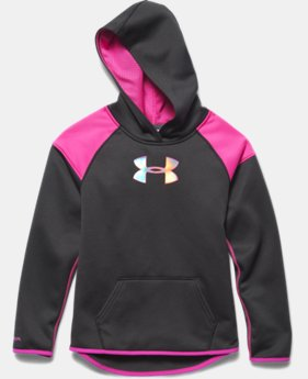 Girls' UA Armour® Fleece Novelty Big Logo Hoodie