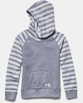 Girls' UA Rival Printed Fleece Hoodie
