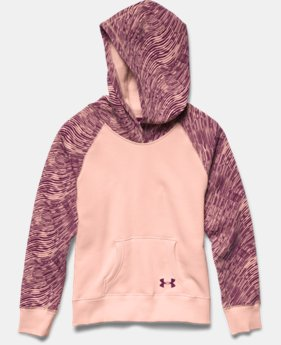 Girls' UA Rival Printed Cotton Hoodie