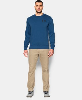 Men's UA Rival Fleece Crew  4 Colors $29.99 to $37.99