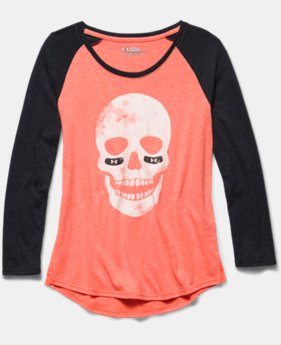 Girls' UA Glow Skull Long Sleeve Raglan