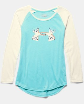Girls' UA Holiday Logo Long Sleeve