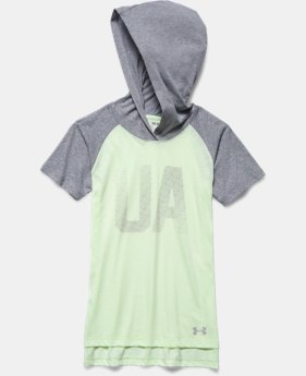 Girls' UA Charged Cotton® Tri-Blend Half-Time Short Sleeve Hoodie