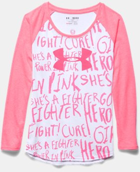 Girls' UA Power In Pink® Long Sleeve Raglan