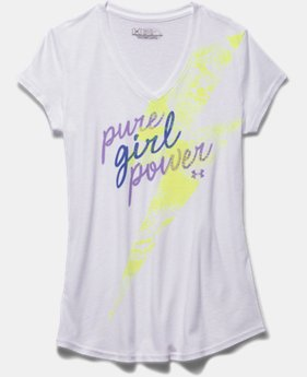 Girls' UA Reflective Girl Power T-Shirt