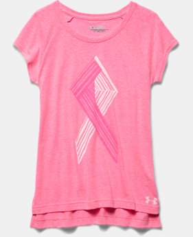 Girls' UA Power In Pink® Ribbon Short Sleeve Raglan