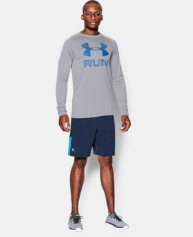 Men's UA Run Reflective Big Logo Long Sleeve T-Shirt   $23.99
