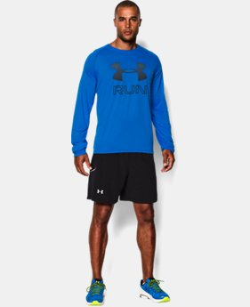 Men's UA Run Reflective Big Logo Long Sleeve T-Shirt