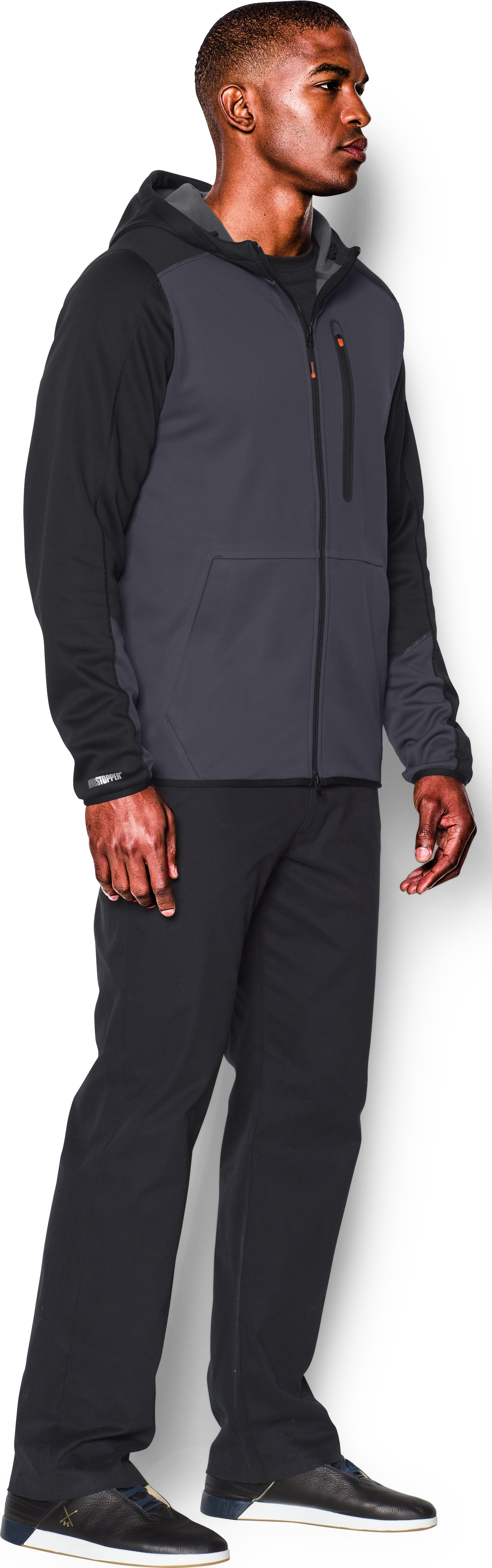 Men's UA Storm WINDSTOPPER® Full Zip Hoodie, STEALTH GRAY