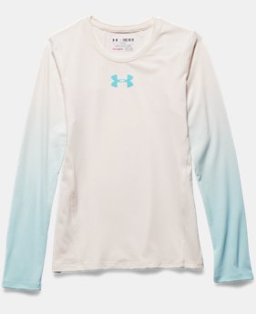 Girls' UA HeatGear® Armour Long Sleeve
