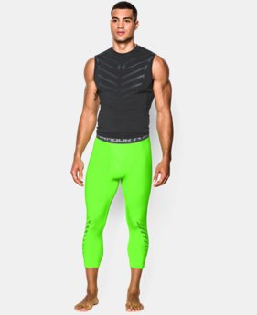 Men's UA HeatGear® Armour Exo ¾ Compression Leggings
