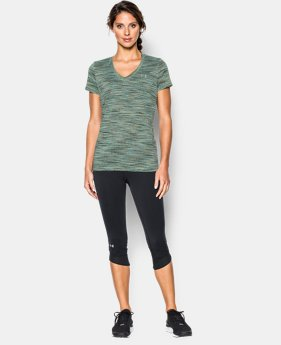 Women's UA Tech™ Space Dye V-Neck  1 Color $14.99 to $18.99